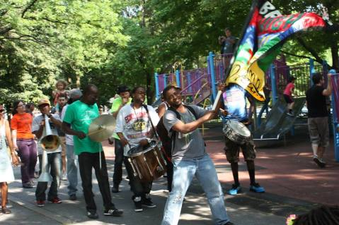 Brother High performs and leads procession at Mizik Ayiti! - June 2013