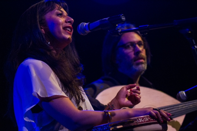 Jenny Luna and Dolunay at Mothersongs on May 11, 2014