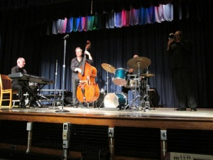 Fintan O'Neill Jazz Ensemble performs for a school assembly. Photo: BAC
