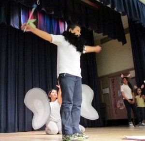 "In a performance of ""Horton Hears A Who"" students show off theater skills learned in a residency with teaching artist Billy Schultz. Photo: BAC."