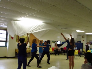 Seniors show off their moves during a Dance residency with SPARC artist Emily Wexler. Photo: BAC.
