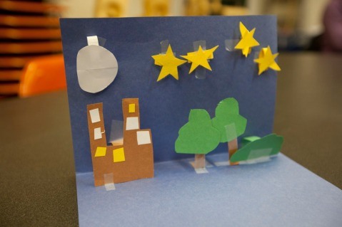 An example of student work. Image provided by artist.